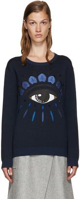 Kenzo Blue Jacquard Eye Sweater $490 thestylecure.com