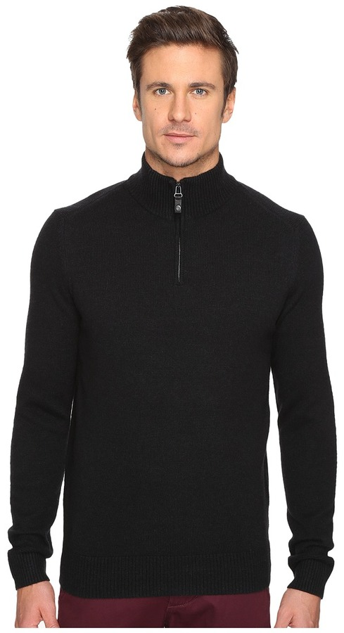 Ben Sherman Ben Sherman Long Sleeve Lambswool Half Zip Knit