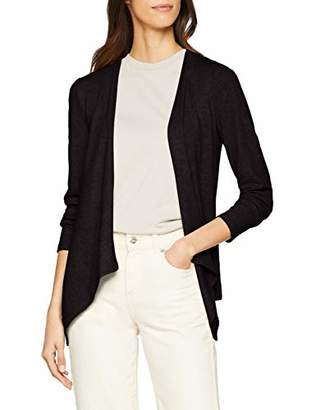 Only Women's Onlashley L/s Cardigan JRS (Black Detail:Solid), (Size: Small)