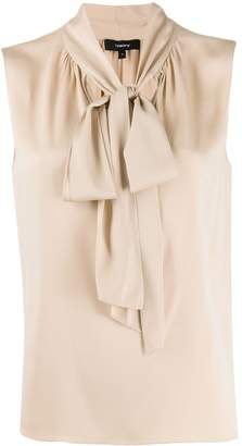 Theory pussy bow blouse