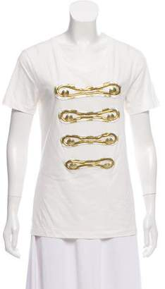 Pierre Balmain Short Sleeve Embellished T-Shirt