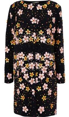 Zac Posen Embellished Crepe Coat