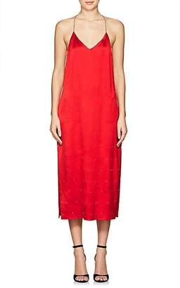 Amiri Women's Embellished Silk T-Back Slipdress
