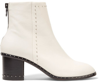 rag & bone - Willow Studded Leather Ankle Boots - White $550 thestylecure.com