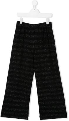 Caffe Caffe' D'orzo flared striped trousers