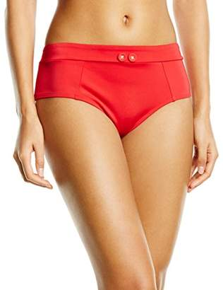 Gossard Women's Retro Button Shorts Plain Bikini Bottoms,(Manufacturer Size: X-Large)