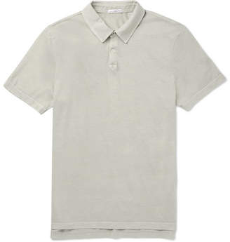James Perse Supima Cotton-Jersey Polo Shirt - Men - Gray green