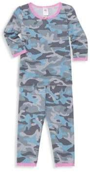 Little Girl's & Girl's Two-Piece Camouflage Pajama Set