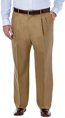 Haggar Premium No Iron Classic-Fit Pleated Khakis - Big & Tall