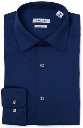 Haggar Men's Premium Comfort Regular-Fit Stretch Dress Shirt