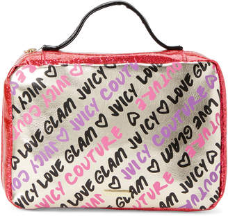 Juicy Couture Gold & Pink Logo Hanging Cosmetic Case