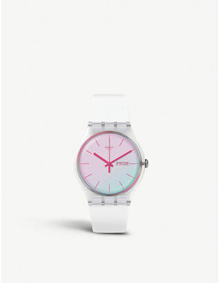 SUOK713 Polawhite plastic and silicone watch
