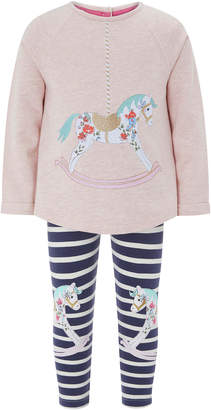 Monsoon Baby Rachel Rocking Horse Jersey Set
