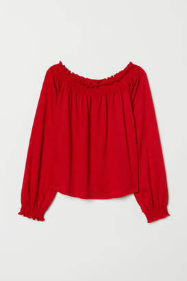 H&M Off-the-shoulder Blouse - Red