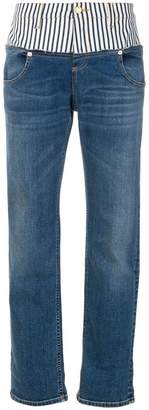 Roberto Cavalli striped detail straight jeans