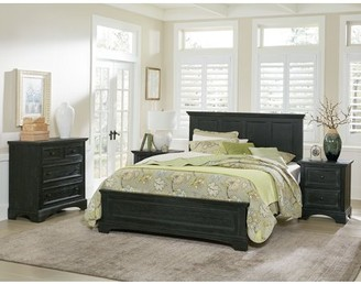 Inspired by Bassett Farmhouse Basics Queen Bedroom Set with 2 Nightstands, 1 Chest, and 1 Vanity w/ Bench