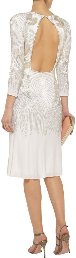 Mikael Aghal Beaded jersey dress