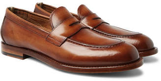 Officine Creative Ivy Polished-Leather Penny Loafers