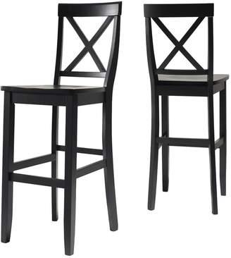 Crosley Furniture 2-piece X-Back Bar Chair Set