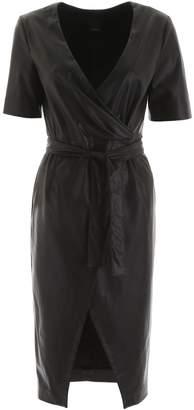 Pinko Faux Leather Dress