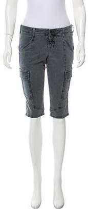 J Brand Mid-Rise Knee-Length Cargo Shorts