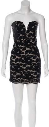Mason Leather-Trimmed Mini Dress