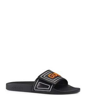 Gucci Men's New Pursuit Slide Sandals