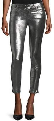 RtA Prince Metallic Leather Ankle Pants