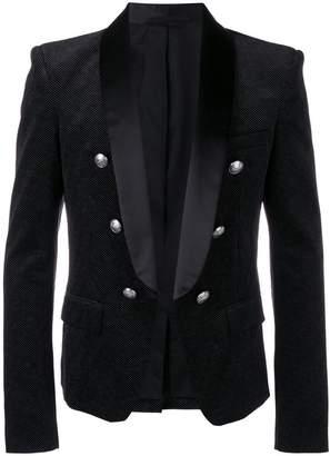 Balmain double-breasted tuxedo blazer