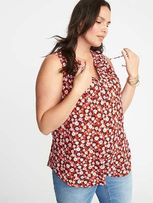 Old Navy Relaxed Plus-Size Sleeveless Tie-Neck Top