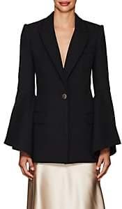 Prabal Gurung Women's Crepe Bell-Sleeve One-Button Blazer - Black