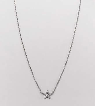 Accessorize platinum crystal necklace