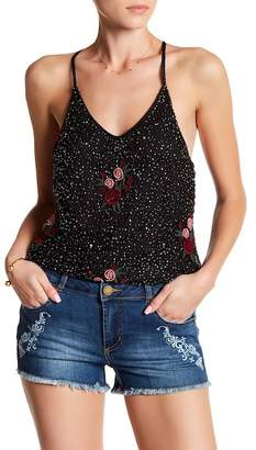 Romeo & Juliet Couture ROMEO &JULIET COUTURE Beaded & Embroidered Tank