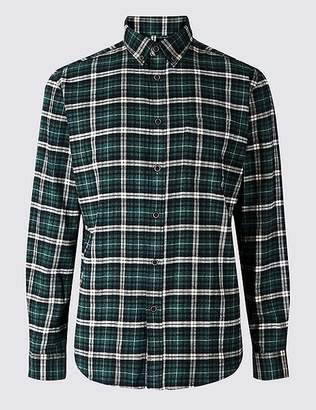 Marks and Spencer Brushed Cotton Checked Shirt
