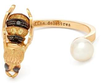 Delfina Delettrez Diamond, Pearl & Yellow Gold Ring - Womens - Gold