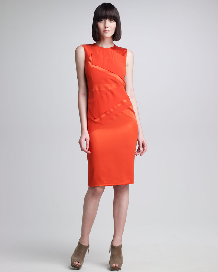 Narciso Rodriguez Bifabric Sheath Dress