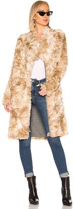 NSF Toni Faux Fur Long Coat