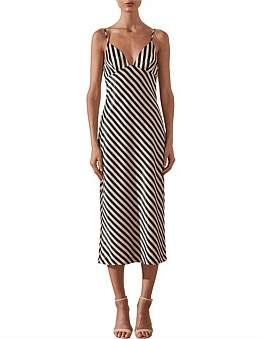 Shona Joy Duke Bias Slip Midi Dress