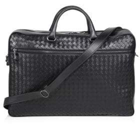 b463099b91c9 ... Bottega Veneta Men s Nero Leather Briefcase - Black