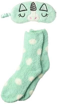 Jacques Moret Women's Cozy Fuzzy Babba Plush Sock and Eyemask Set