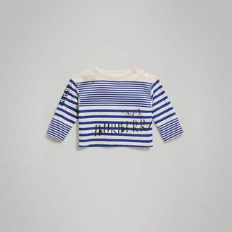 Burberry Long-sleeve SW1 Print Cotton Top