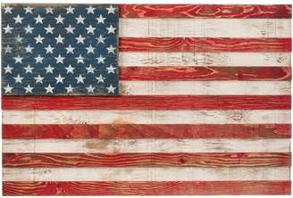 CRLE Wood Slat American Traditional Flag