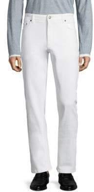 Salvatore Ferragamo Bianco Straight Jeans