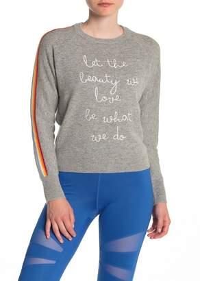 Spiritual Gangster Beauty Rainbow Stripe Wool Blend Sweater