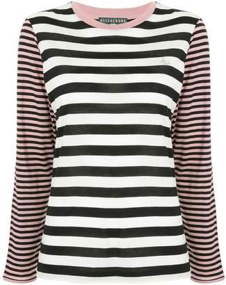 ALEXACHUNG Alexa Chung striped pattern loose sweater