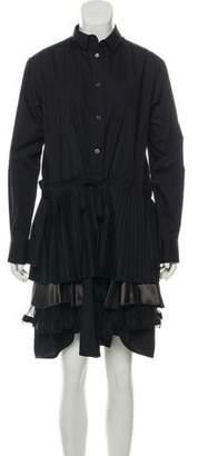 Sacai Button-Up Mini Dress