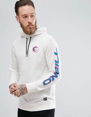 O'Neill Reissue Heritage Hoodie Sleeve Logo in White