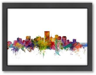 Richmond Americanflat Michael Tompsett ''Richmond, Virginia Skyline I'' Framed Wall Art
