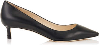 Jimmy Choo ROMY 40 Black Kid Leather Pointy Toe Pumps