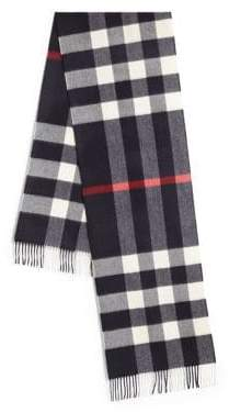 Burberry Cashmere Checked Wool Scarf